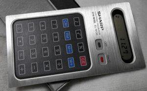 1977 シャープ電卓 タッチパネル印刷